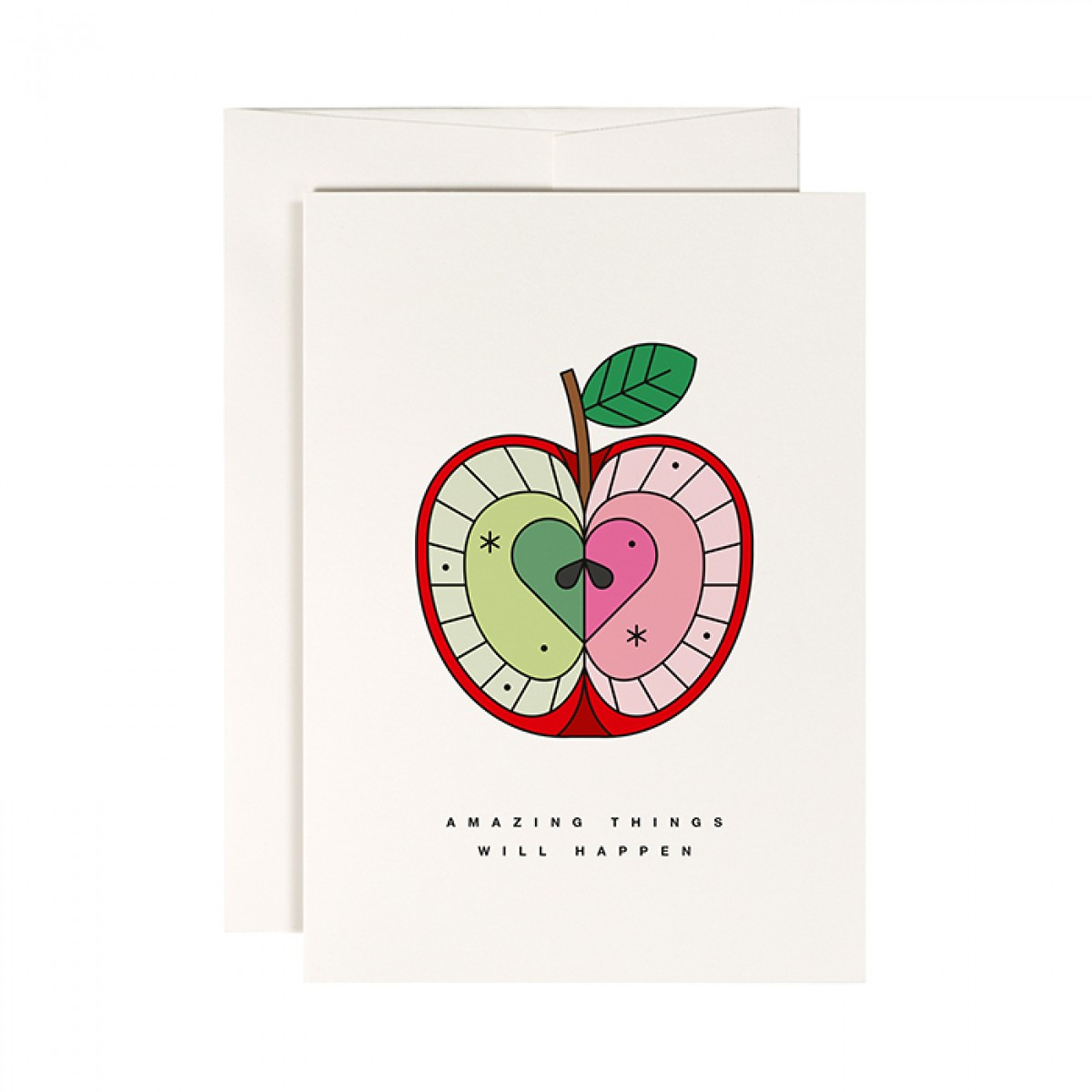 redfries magic apple – Klappkarte DIN A6 mit Umschlag