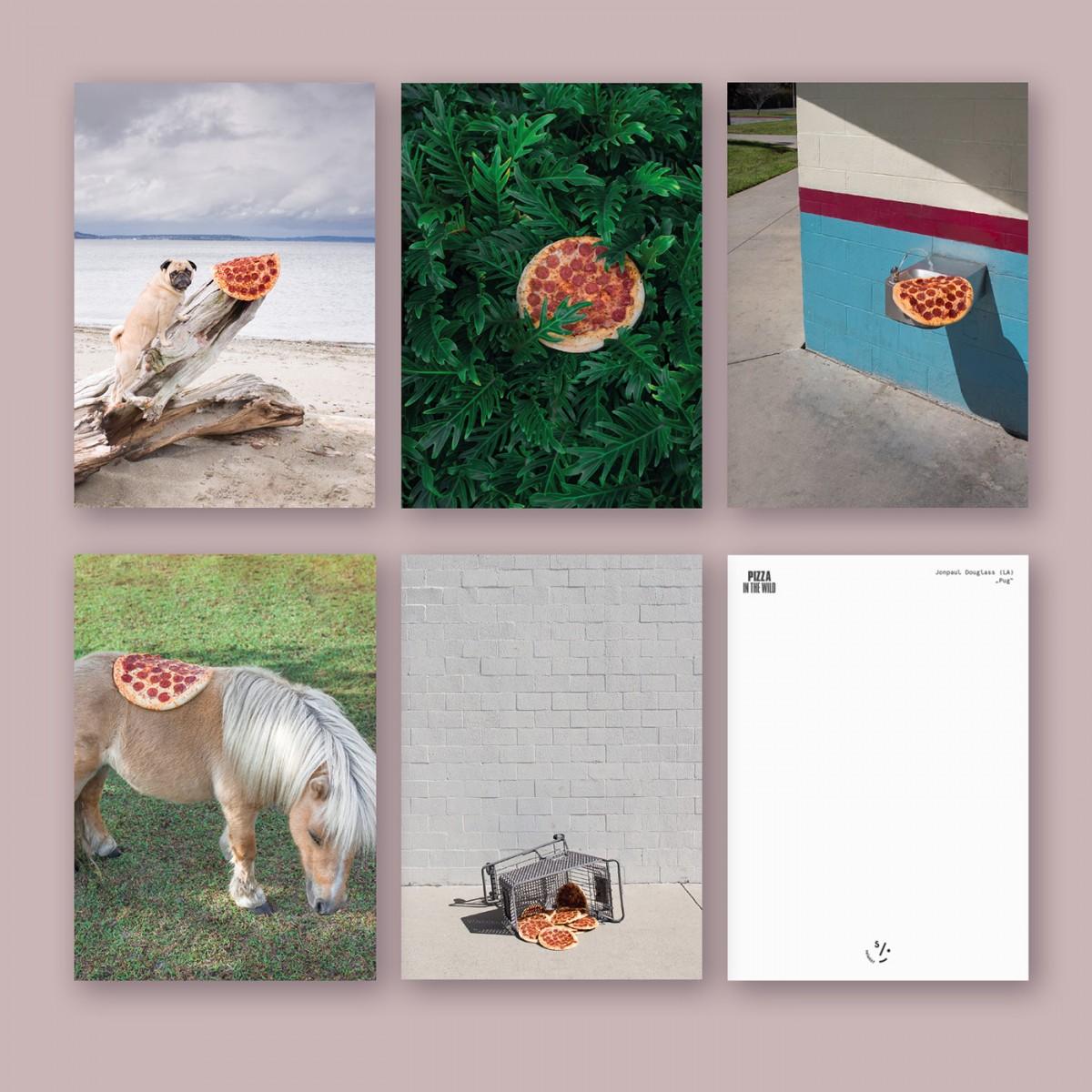 """Pizza in the Wild"" Postkarten Set"