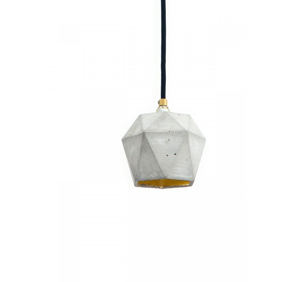 GANTlights - Beton Hängelampe [T2] Lampe Gold trianguliert