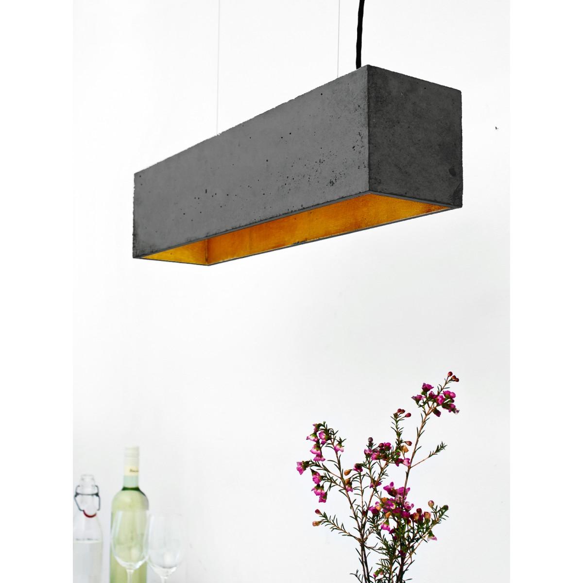 GANTlights [B4]dark Pendelleuchte rechteckig