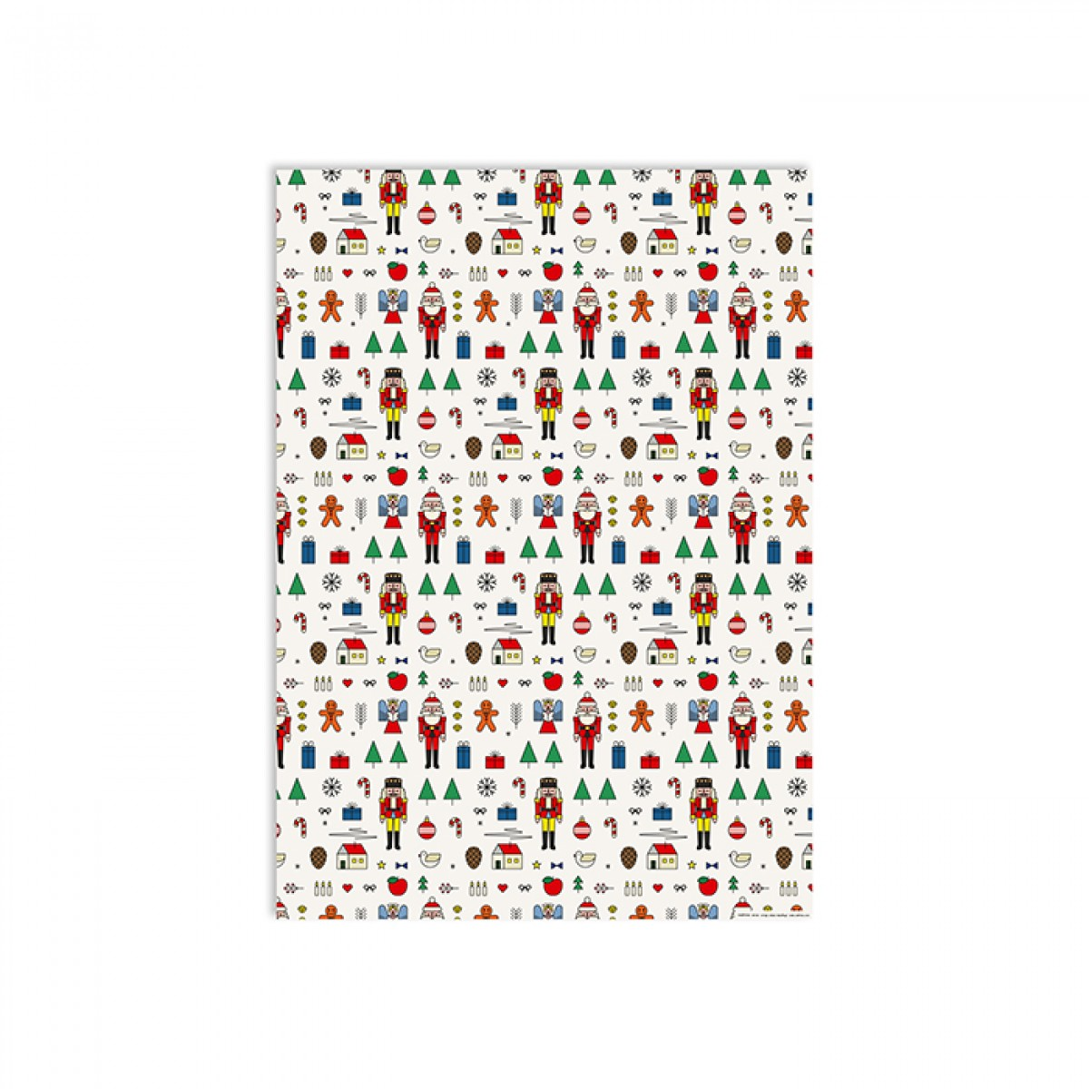 redfries wrap xmas mashup –Geschenkpapier DIN B2, 3 Bögen