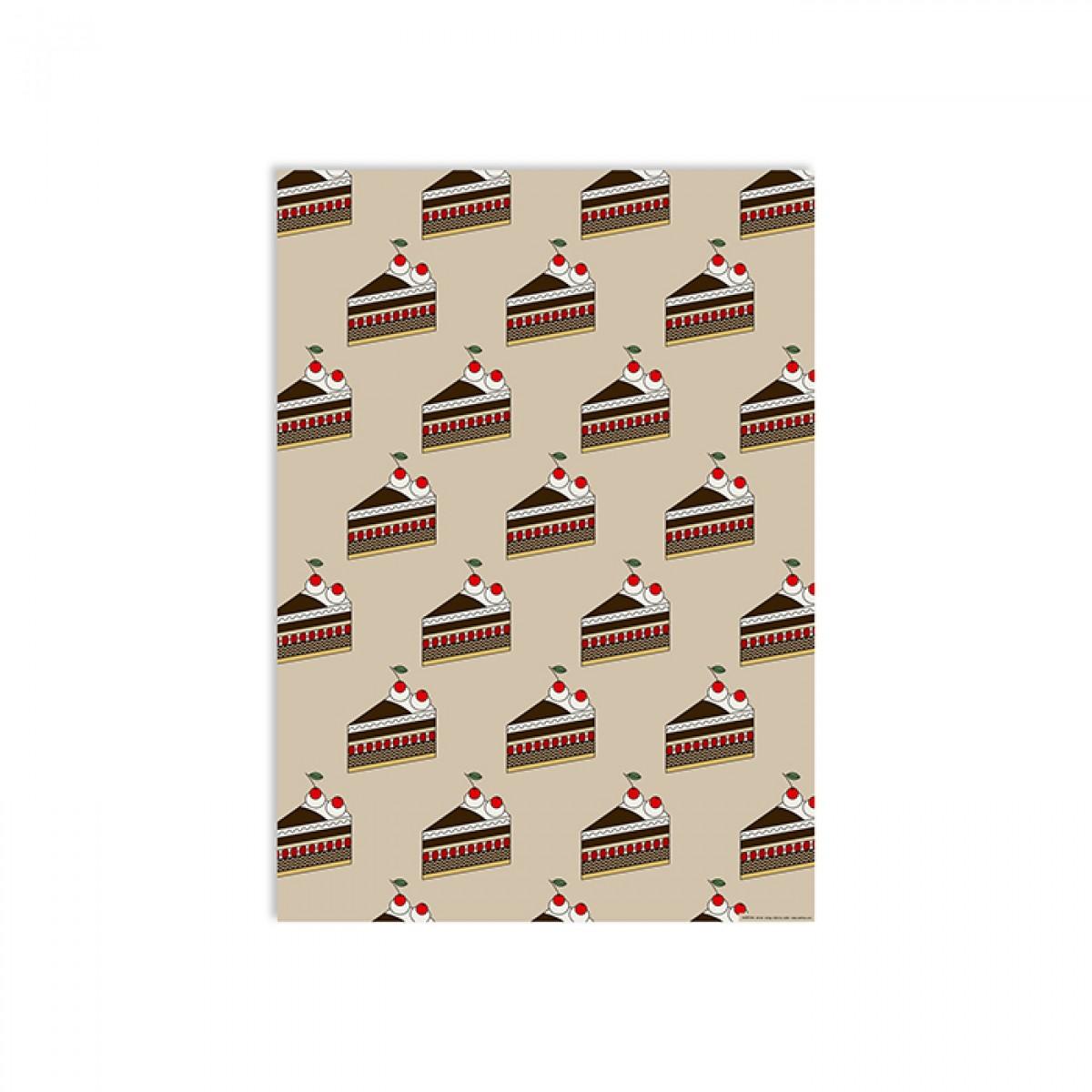redfries wrap cherry cake – Geschenkpapier DIN B2, 3 Bögen