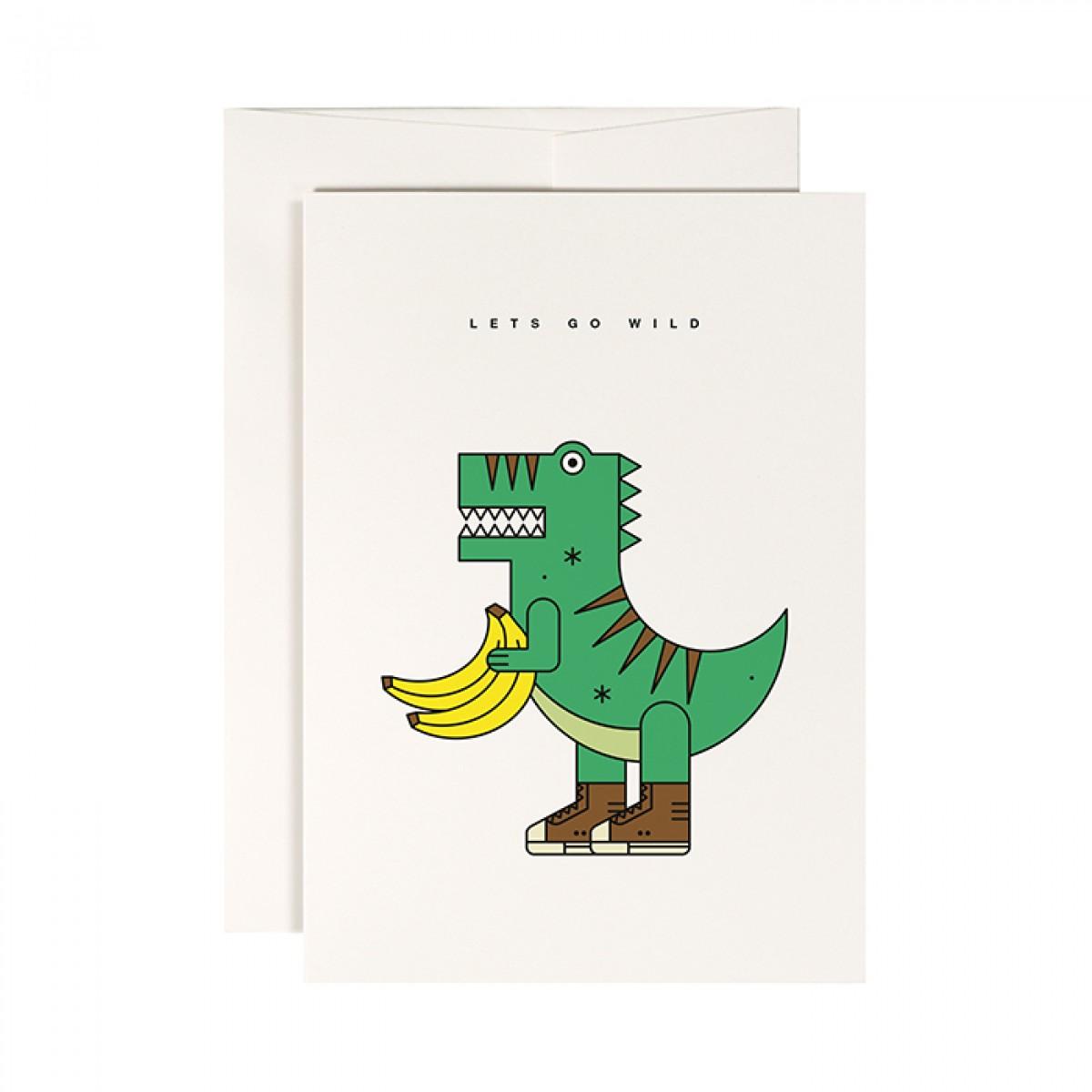 redfries veggiesaurus – Klappkarte DIN A6 mit Umschlag