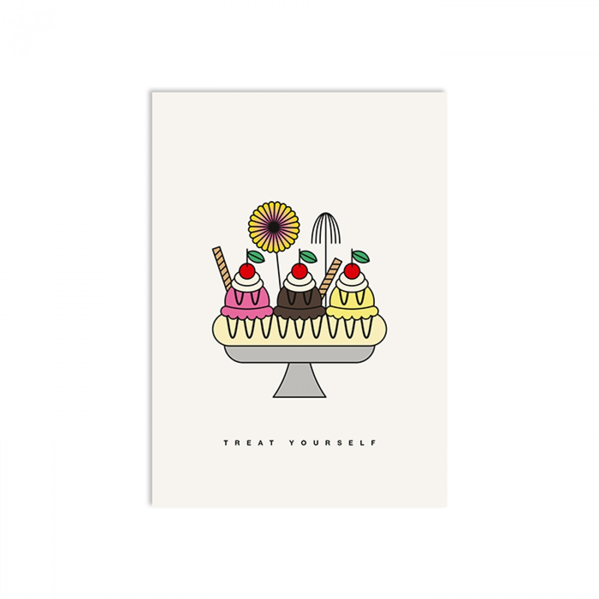redfries banana split – Postkarte DIN A6