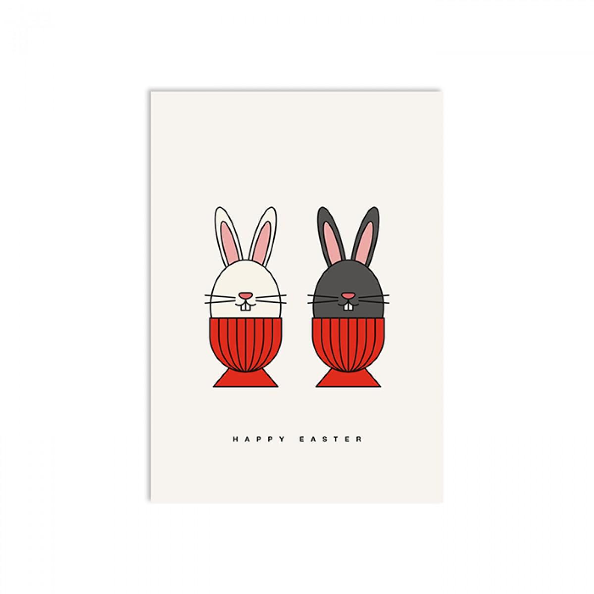 redfries bunny crew – Postkarte DIN A6 Ostern