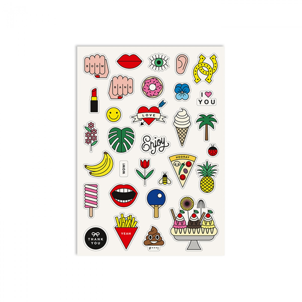 redfries stickers funbox – 2 Stück Aufkleberbögen DIN A5