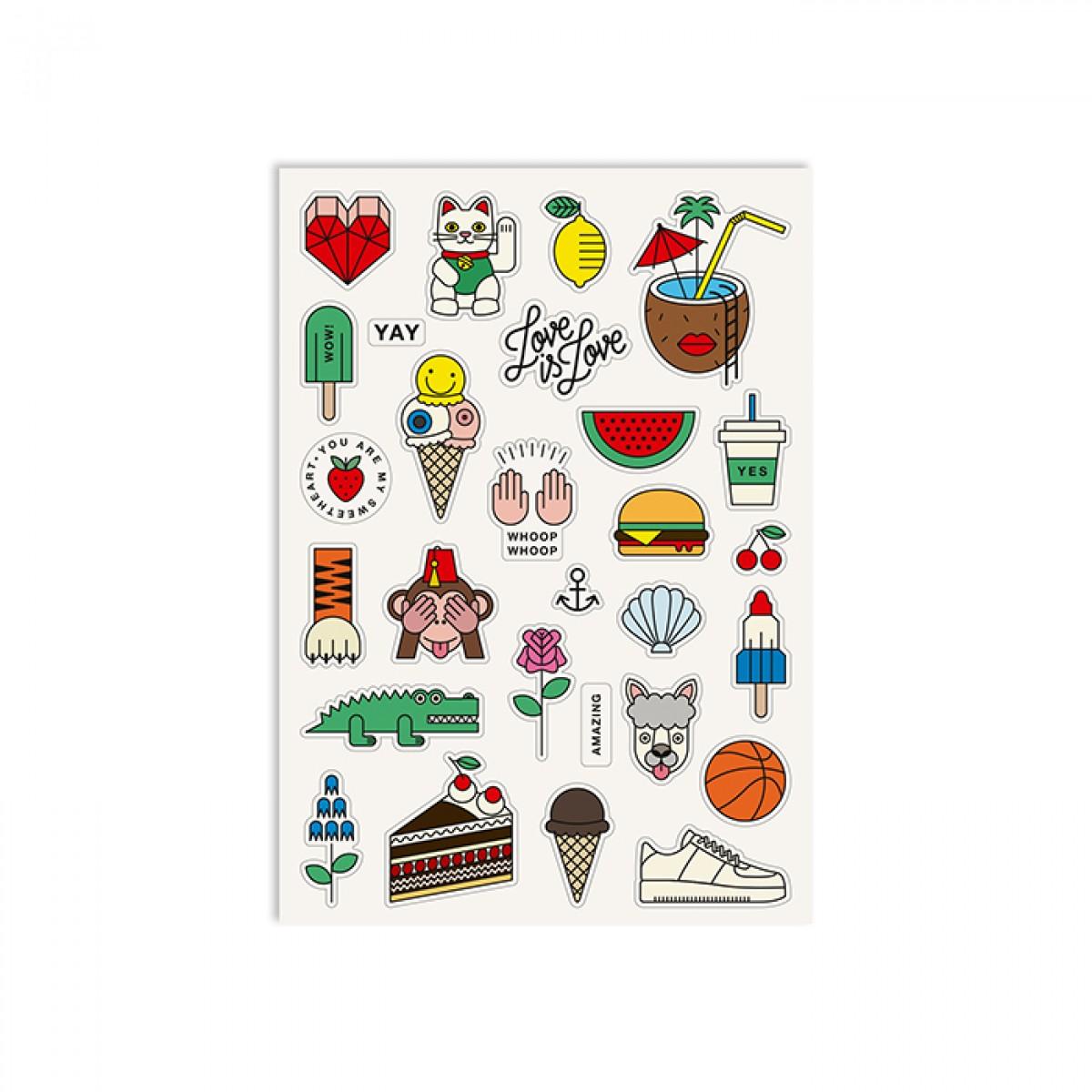 redfries stickers mishmash – 2 Stück Aufkleberbögen DIN A5