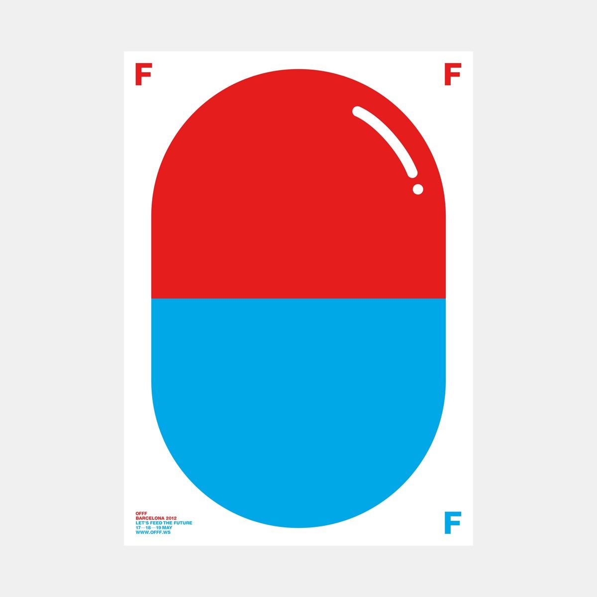 """hinzkunst Plakat """"OFFF"""" DIN A1"""