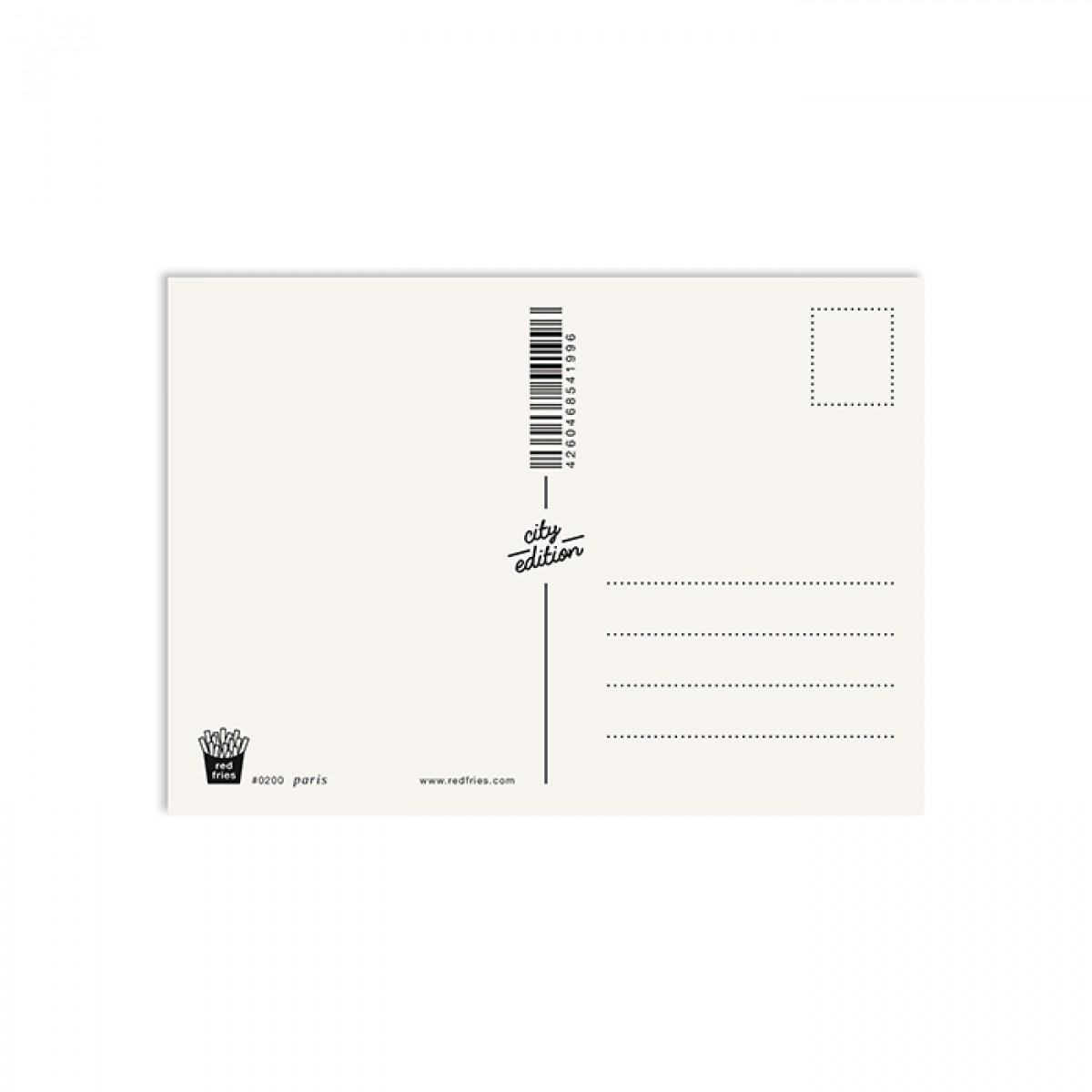 redfries paris – Postkarte DIN A6
