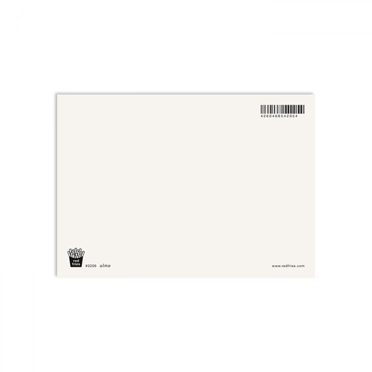 redfries alma – Postkarte DIN A6