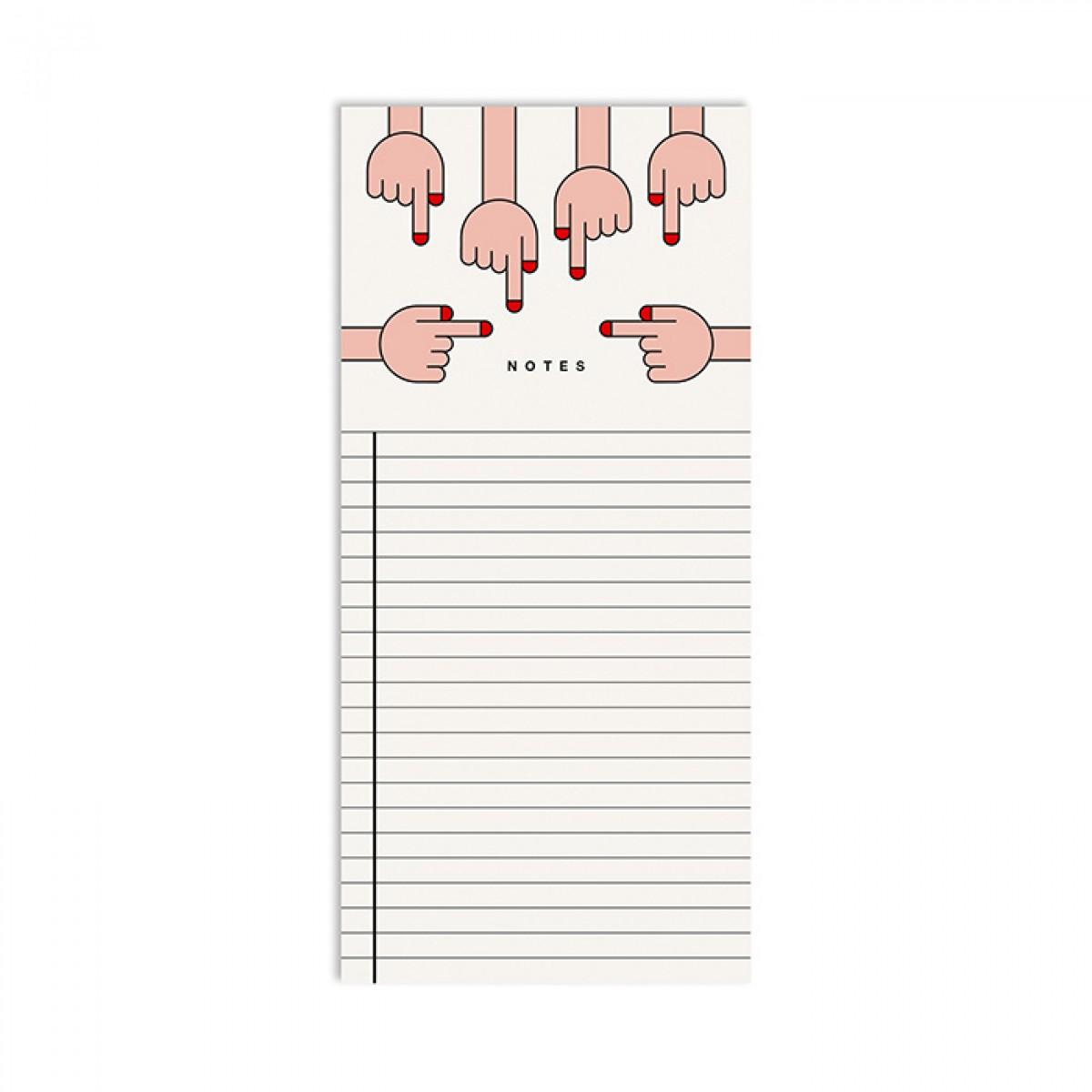 redfries hands – Notizblock DIN lang