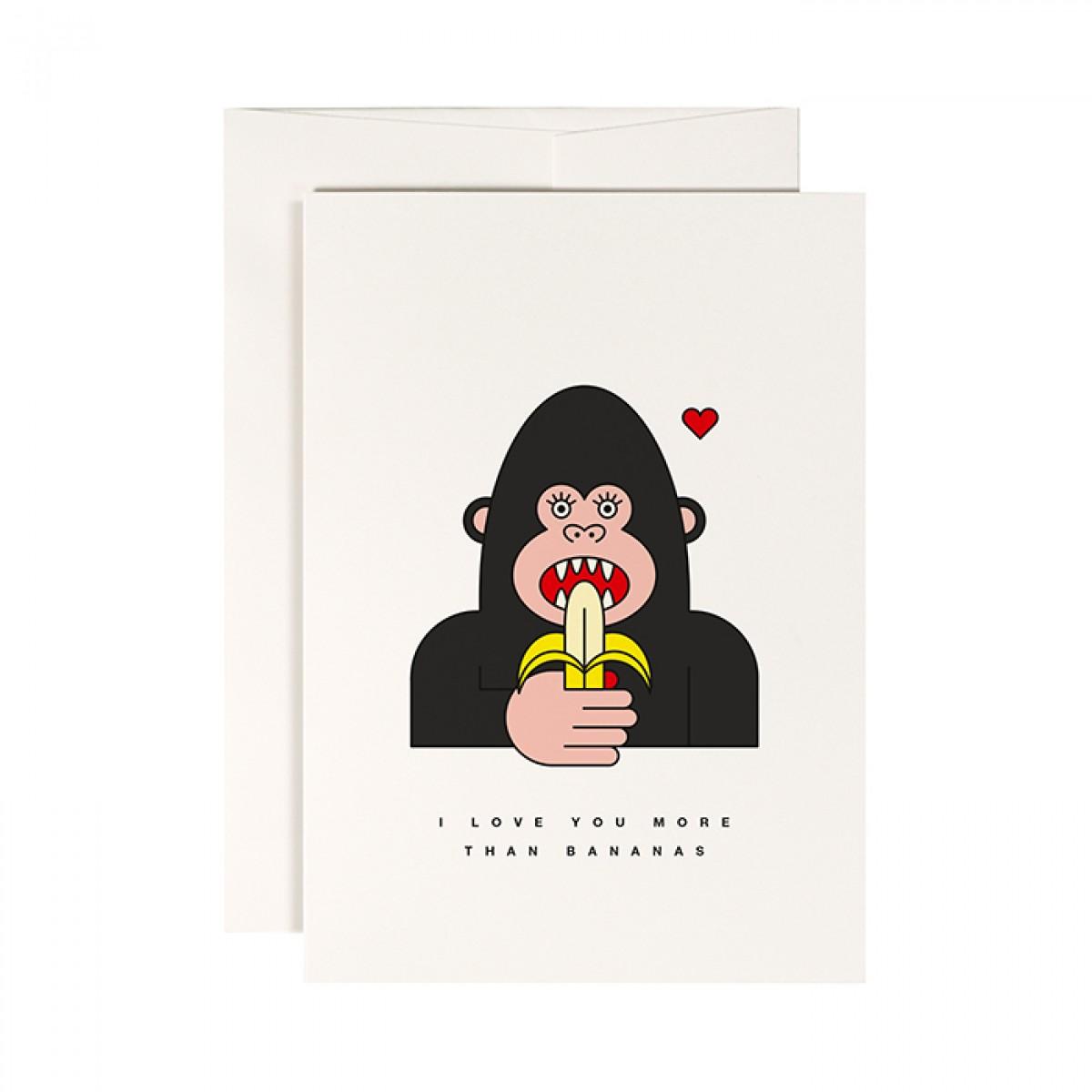 redfries gorilla – Klappkarte DIN A6 mit Umschlag