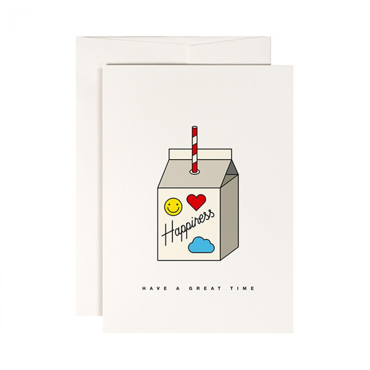redfries happiness juice –Klappkarte DIN A6 mit Umschlag