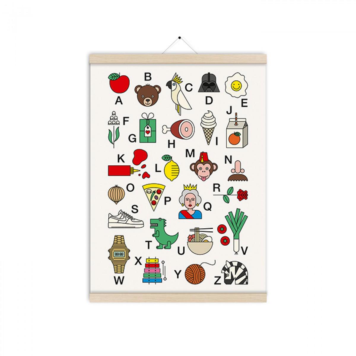 redfries happy abc – Kunstdruck DIN A3