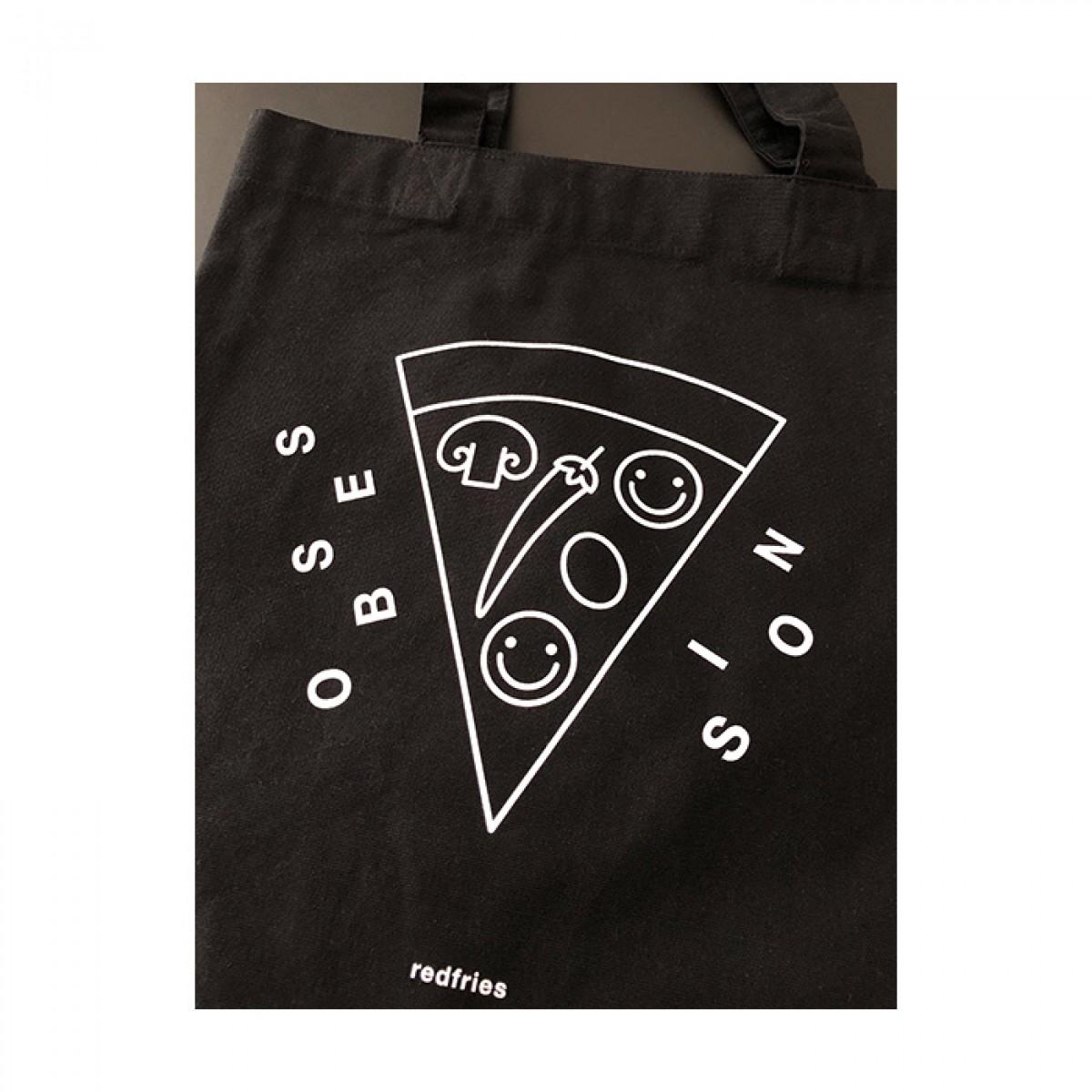 redfries tote bag pizza –Recycelte Baumwolltasche