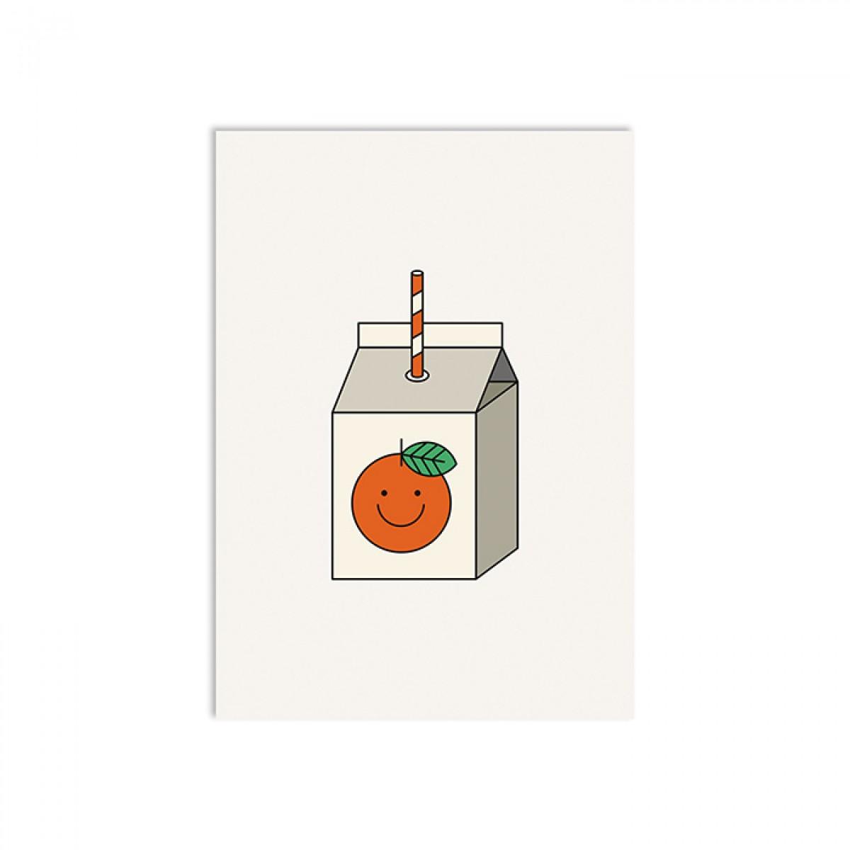 redfries orange juice – Postkarte DIN A6