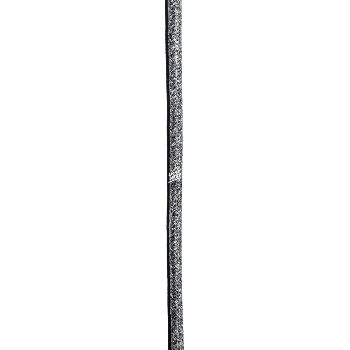 """Lichtliebe Tischleuchte """"Fafoo"""" in weiß und grau meliert inkl. LED Vintage Glühbirne im Edison Style mit nur 1,5 Watt"""