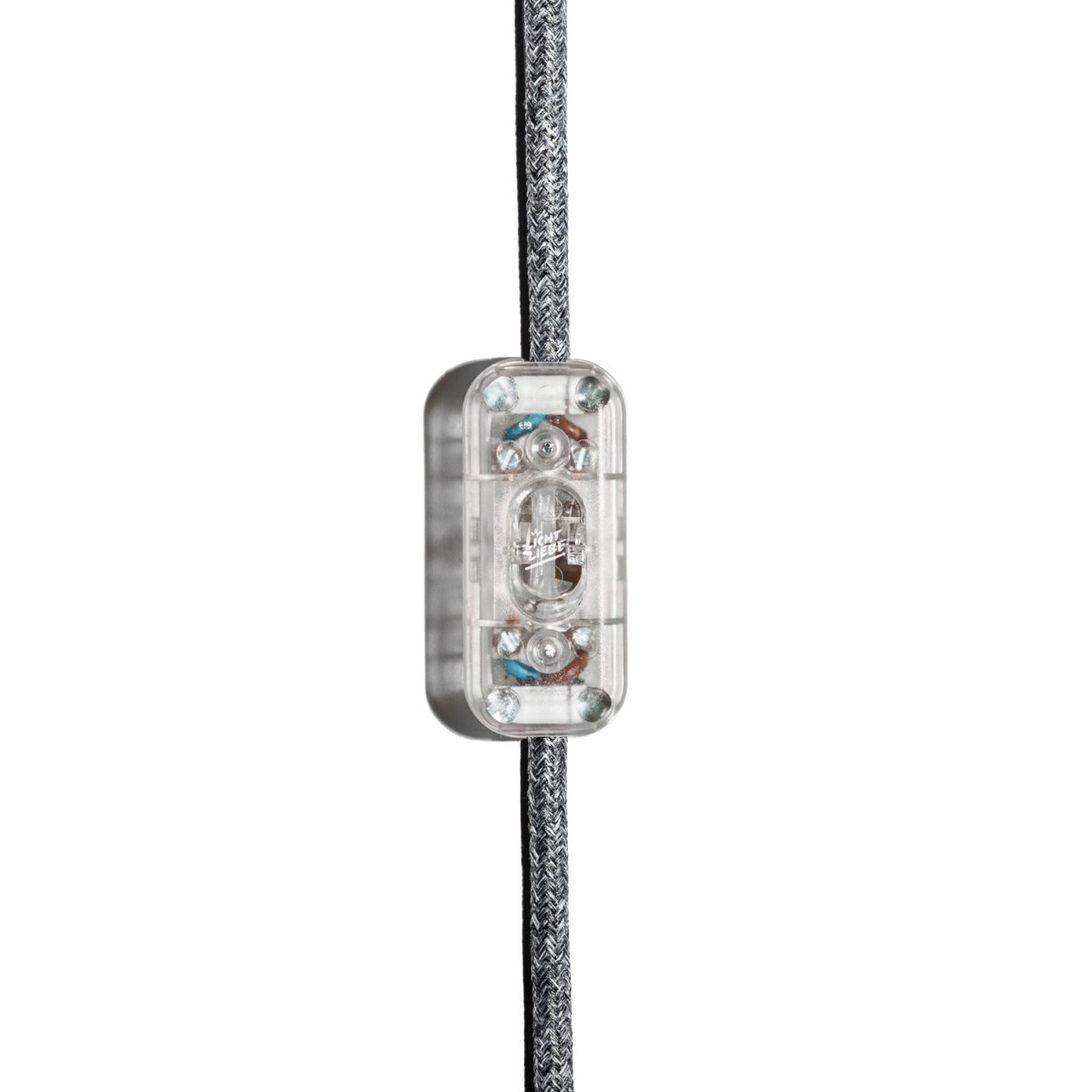 """Lichtliebe Tischleuchte """"Rekoo"""" in mint und grau meliert inkl. LED Vintage Glühbirne im Edison Style mit nur 1,5 Watt"""