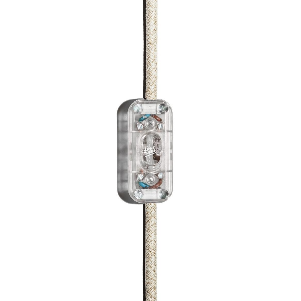 Tischleuchte Fafoo in Eiche mit stylischer Edison Mirror LED Kopfspiegellampe und nur 5 Watt