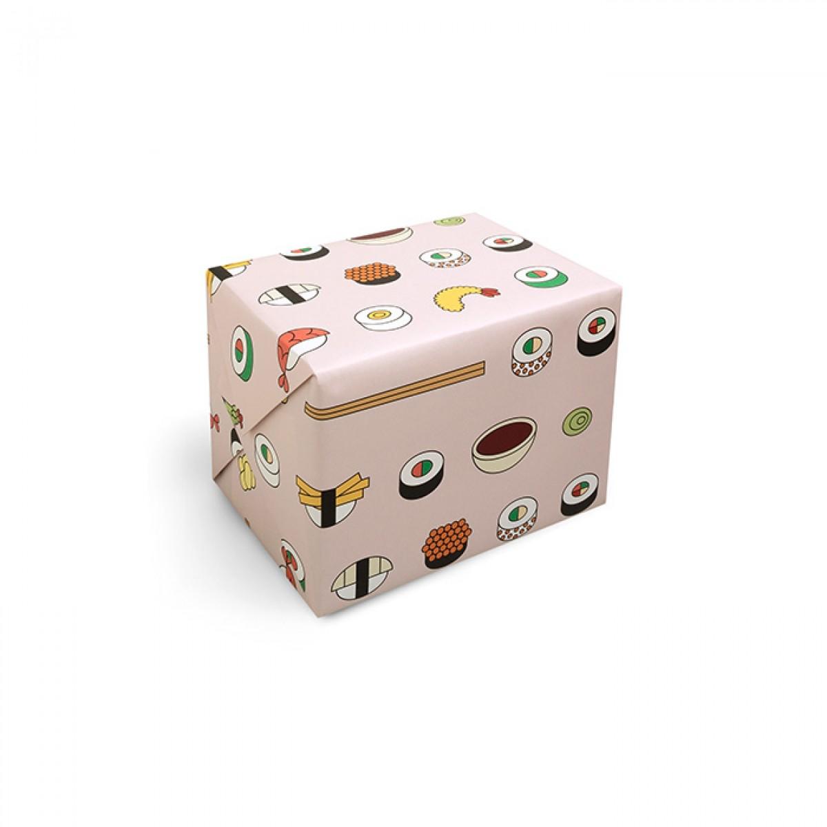 redfries wrap sushi box – Geschenkpapier DIN B2, 3 Bögen