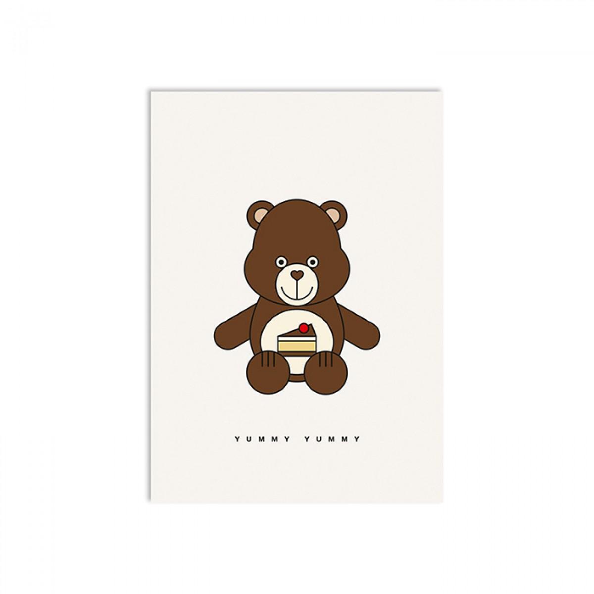 redfries yummy bear – Postkarte DIN A6