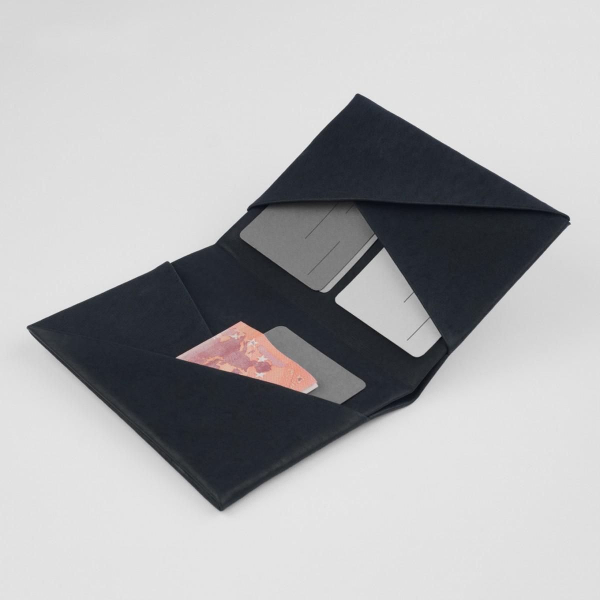 VANOOK Bi-Fold Card Case Large / Charcoal
