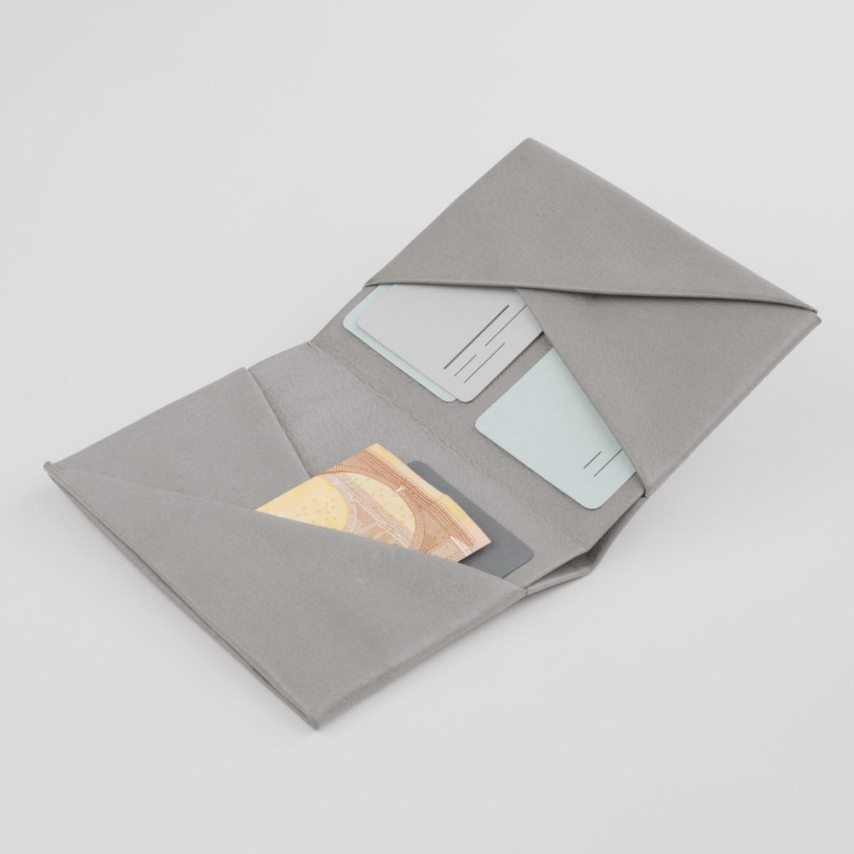 VANOOK Bi-Fold Card Case Large / Stone