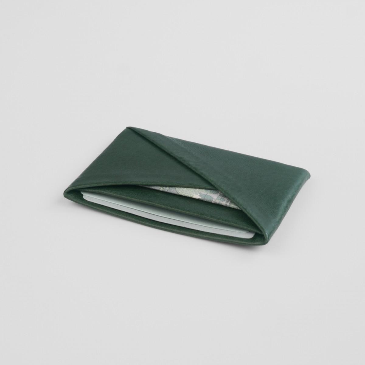 VANOOK Card Case Horizontal / Malachite