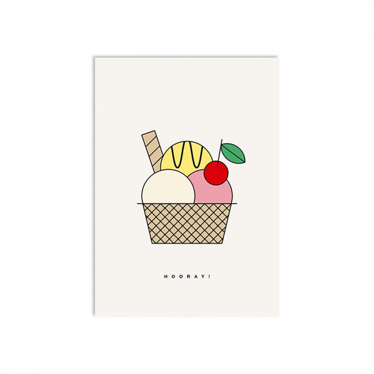 redfries cream dream – Postkarte DIN A6