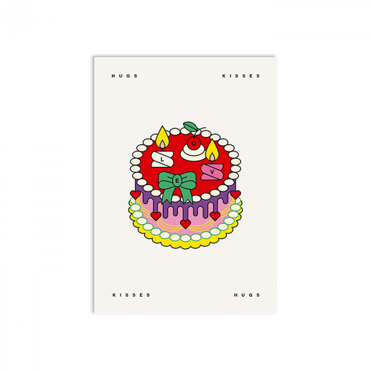 redfries love cake – Postkarte DIN A6