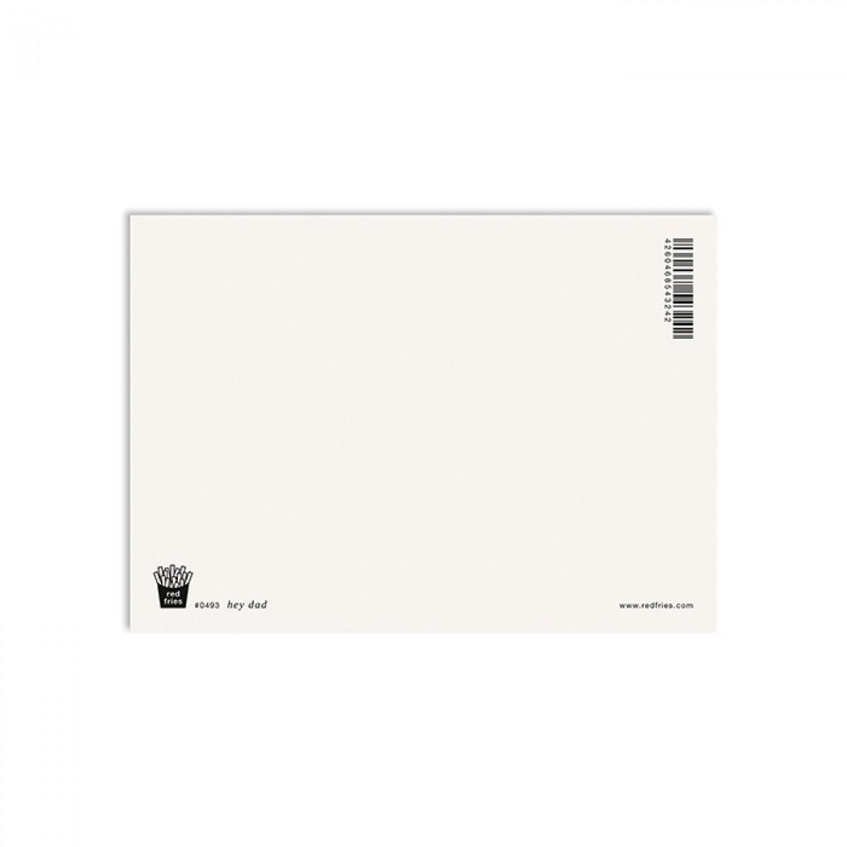 redfries hey dad –Postkarte DIN A6 Vatertag