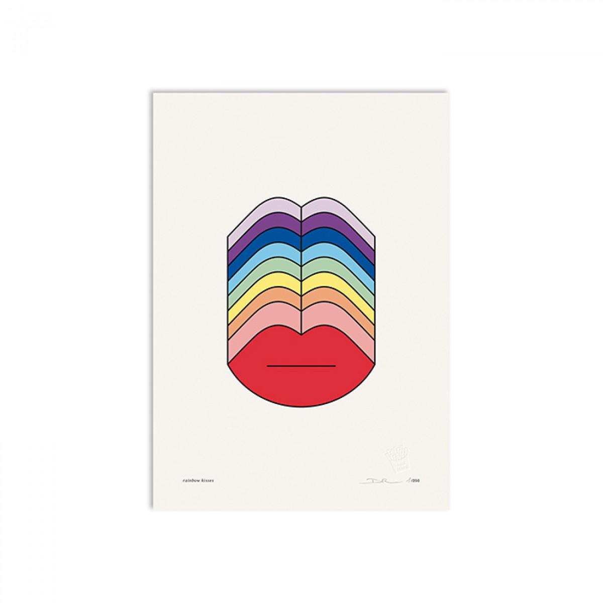 redfries rainbow kisses a3 –Kunstdruck DIN A3