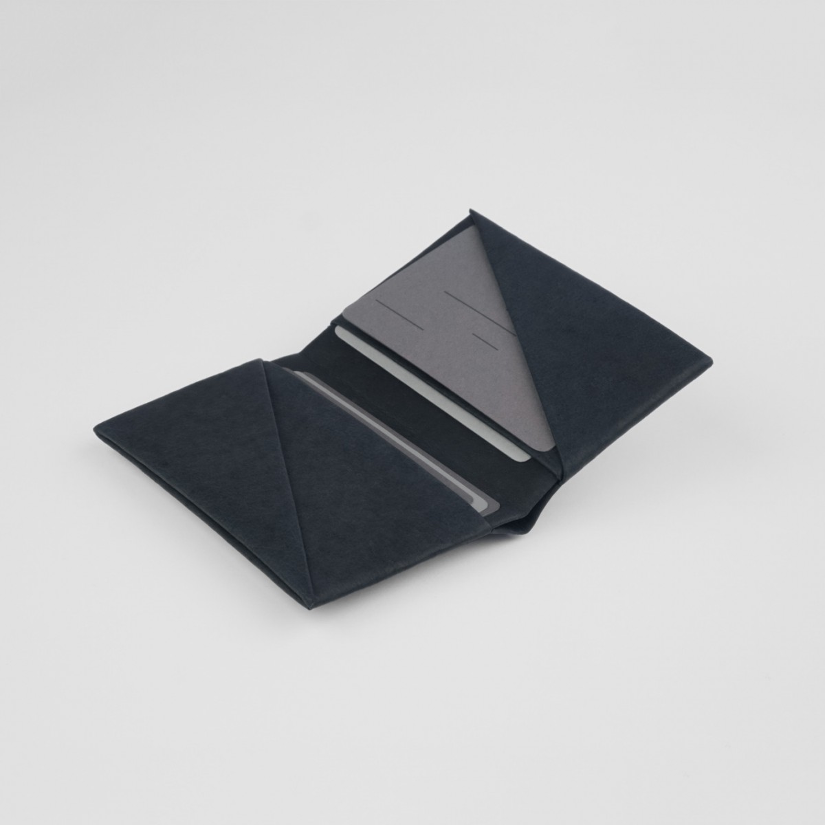 VANOOK Bi-Fold Card Case Small / Charcoal