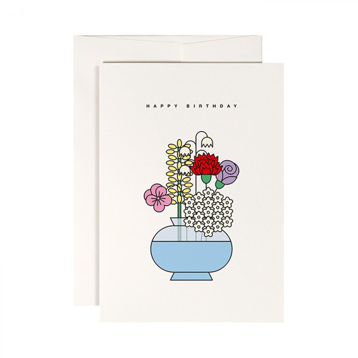 redfries perfect harmony – Klappkarte DIN A6 mit Umschlag, 3 Stück, Geburtstag