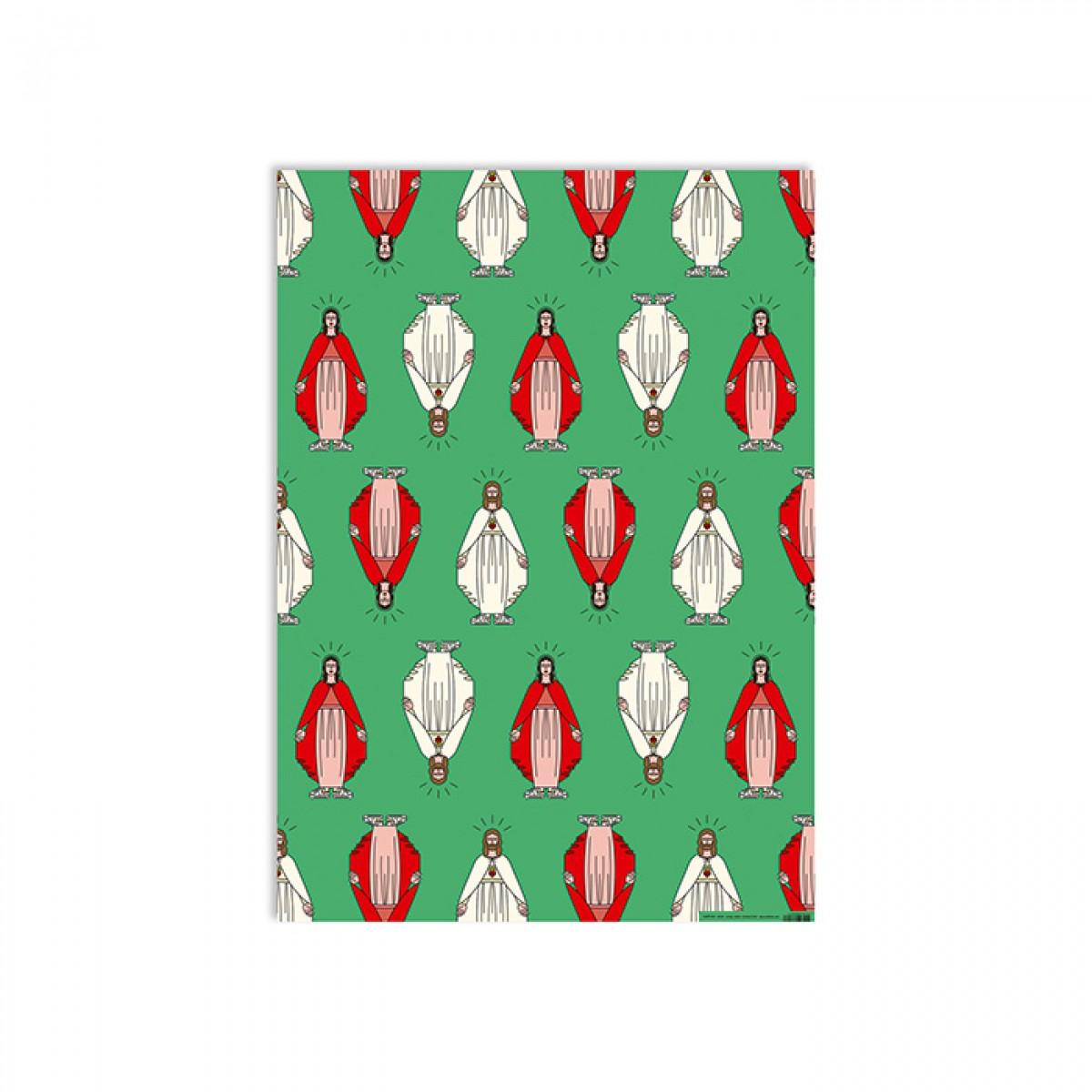 redfries xmas connection – Geschenkpapier DIN B2, 3 Bögen, Weihnachten