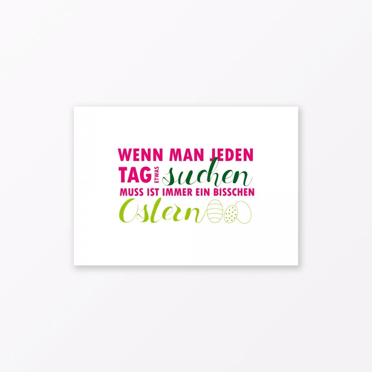 "TYPOP Postkarte ""Jeden Tag Ostern"" DIN A6"