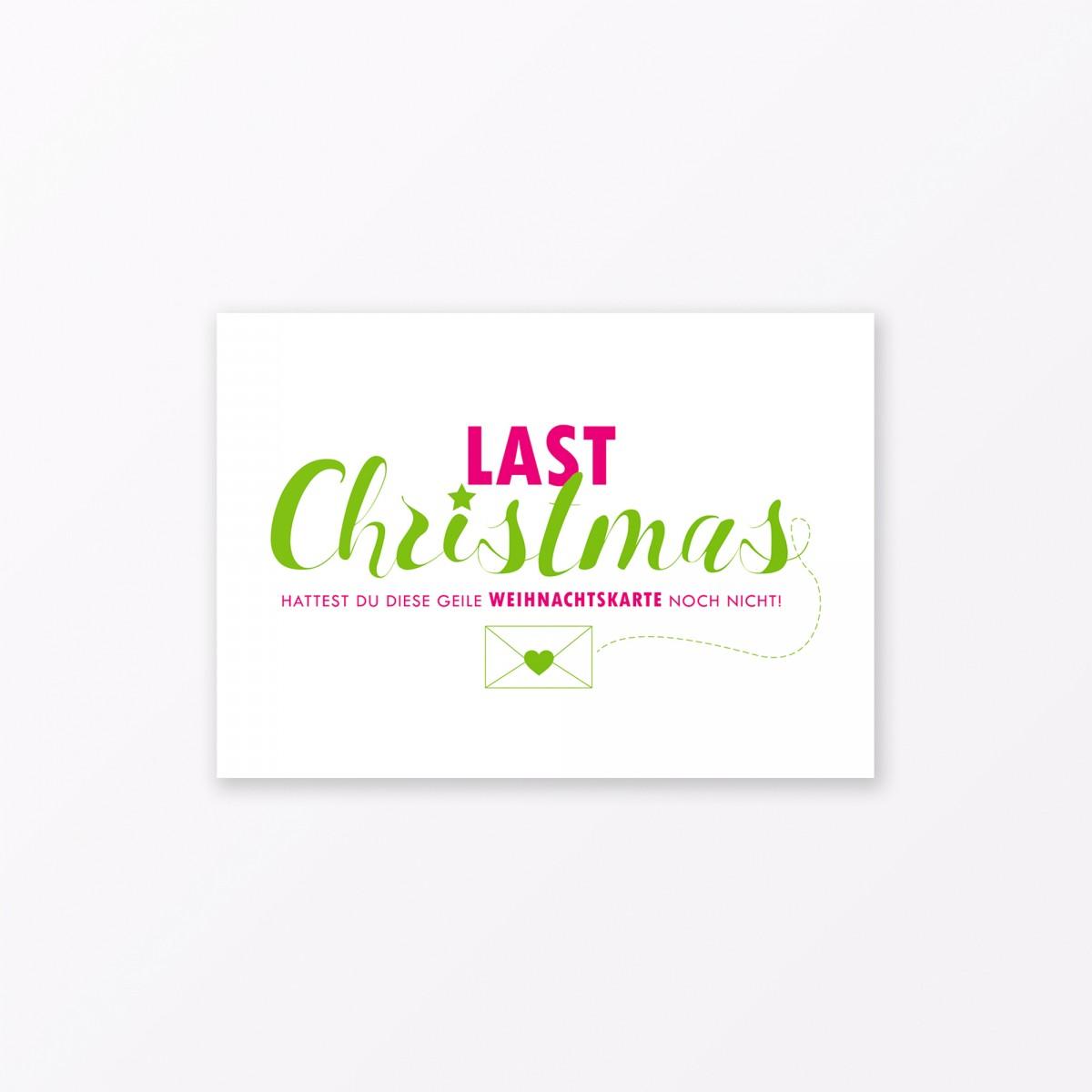 """TYPOP Postkarte """"Last Christmas"""" DIN A6"""