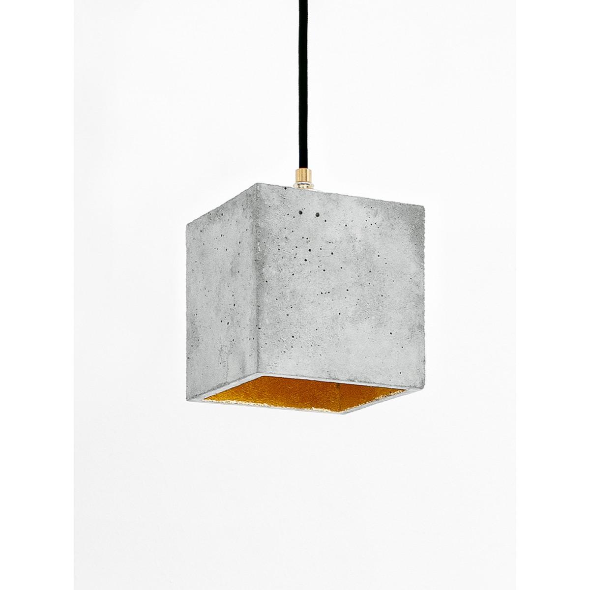 Beton Hängelampe [B1] Lampe Gold minimalistisch