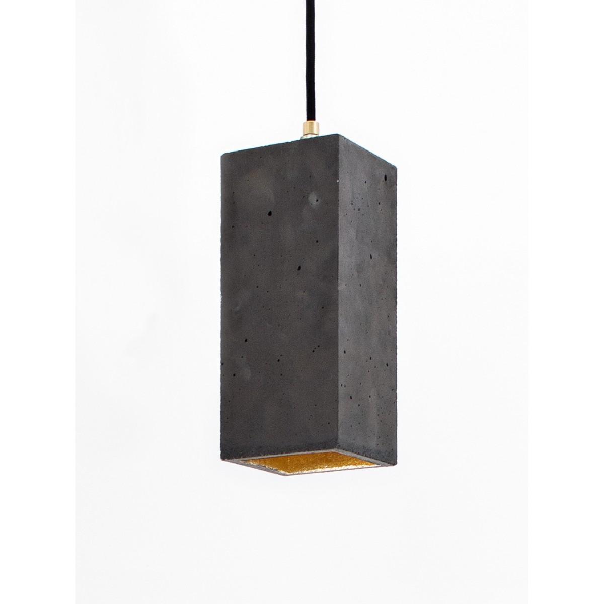 Beton Hängelampe [B2]dark Lampe Gold rechteckig