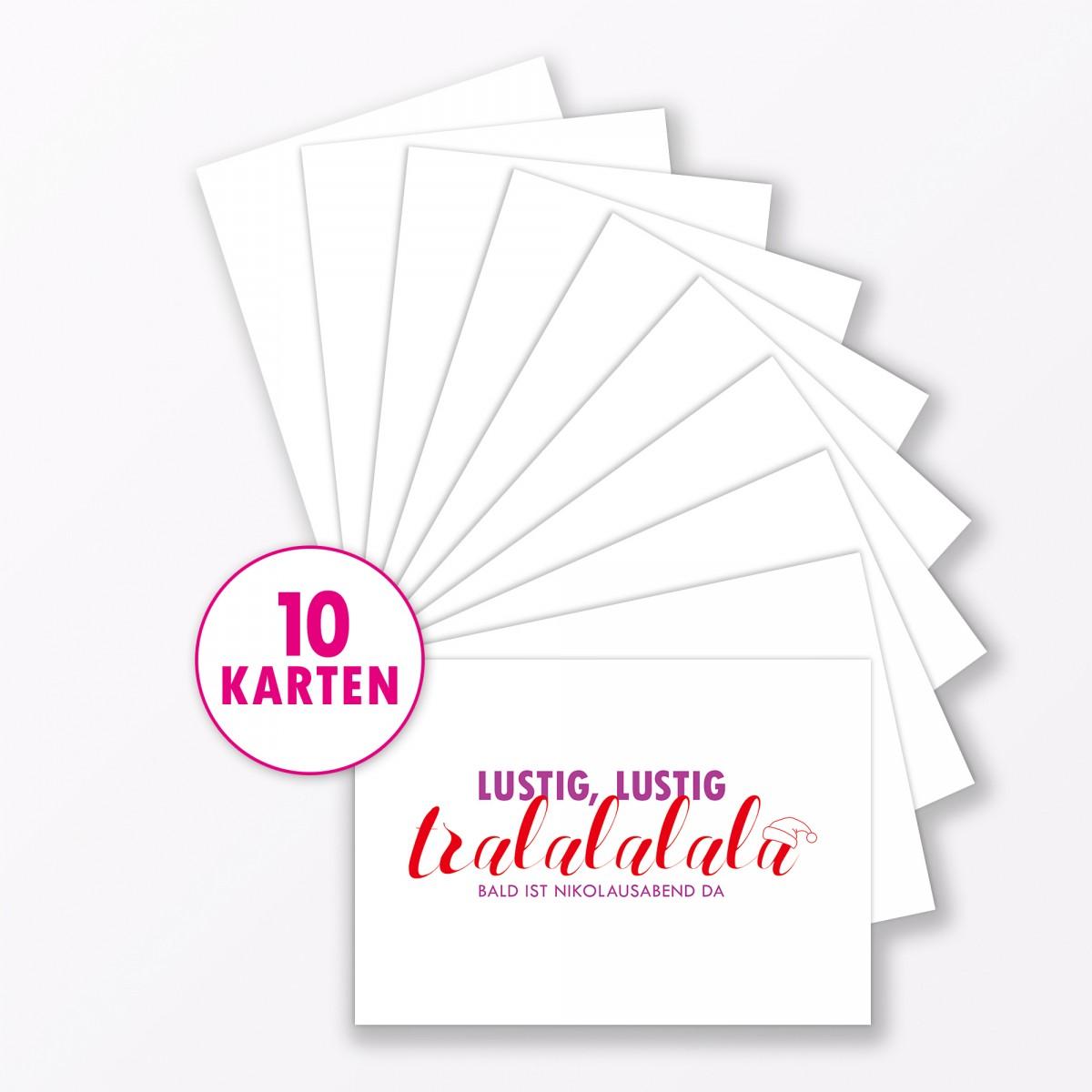 "TYPOP Postkarte ""Lustig lustig tralalalala"" DIN A6"