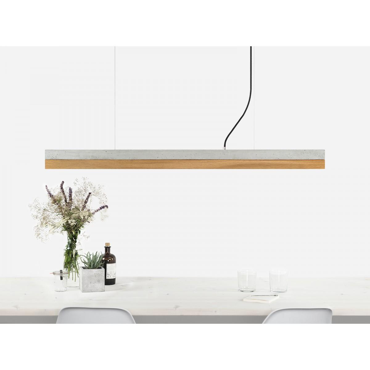 GANT lights [C1]oak Pendelleuchte Beton Eiche minimalistisch