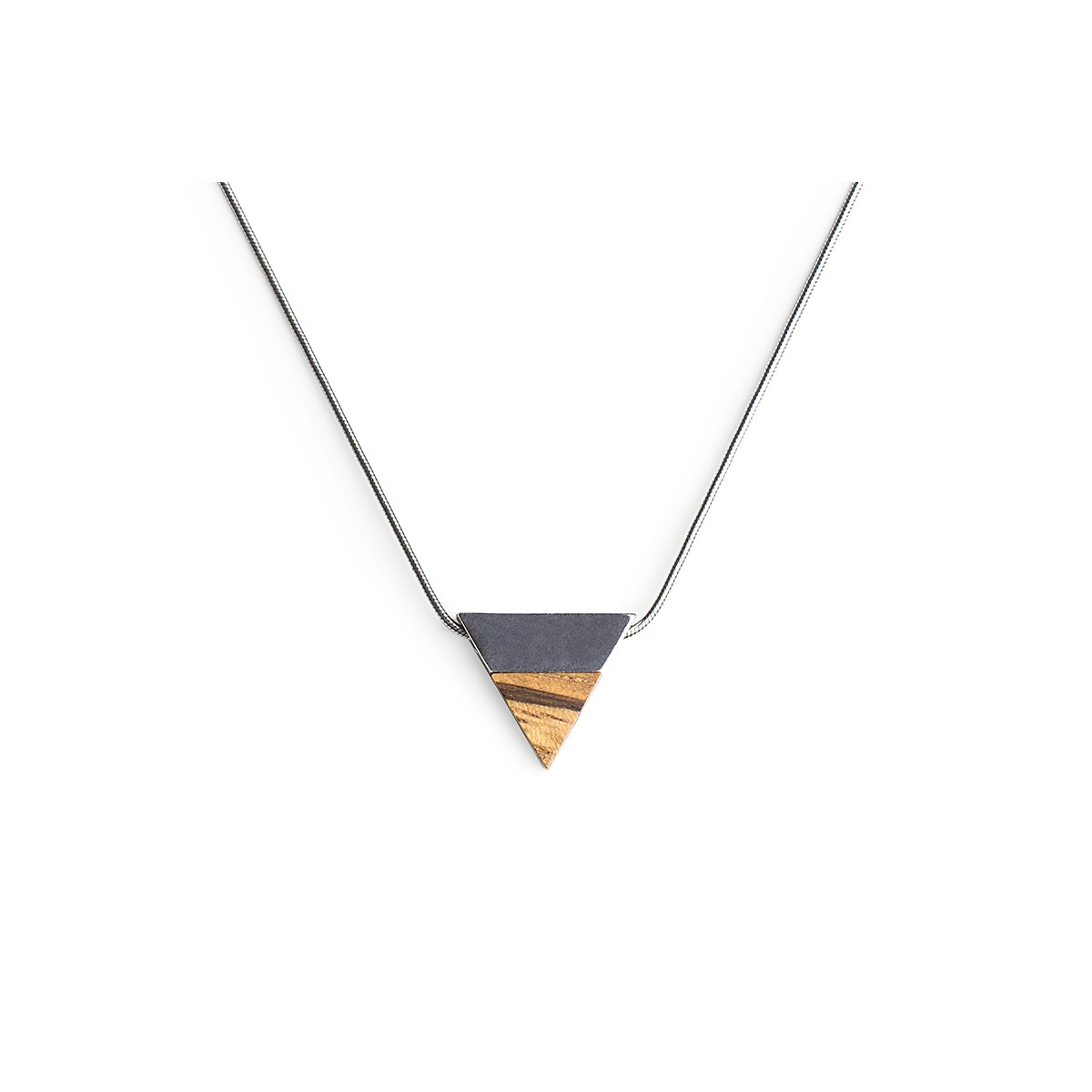 Halskette Api Necklace Triangle von BeWooden