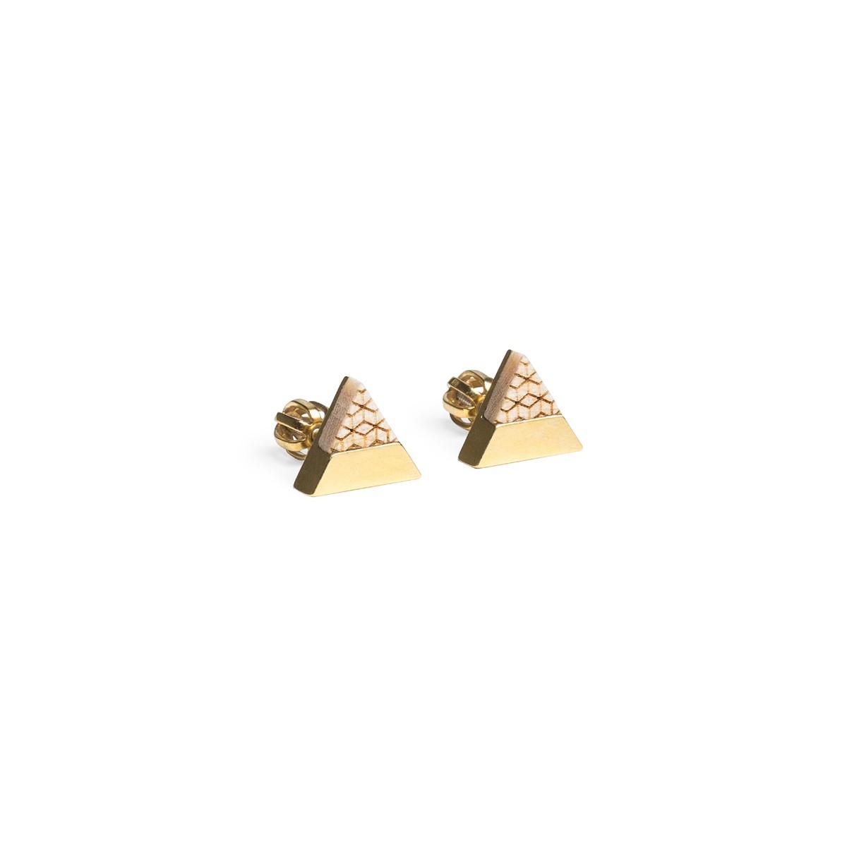 Ohrringe Liti Earrings Triangle von BeWooden