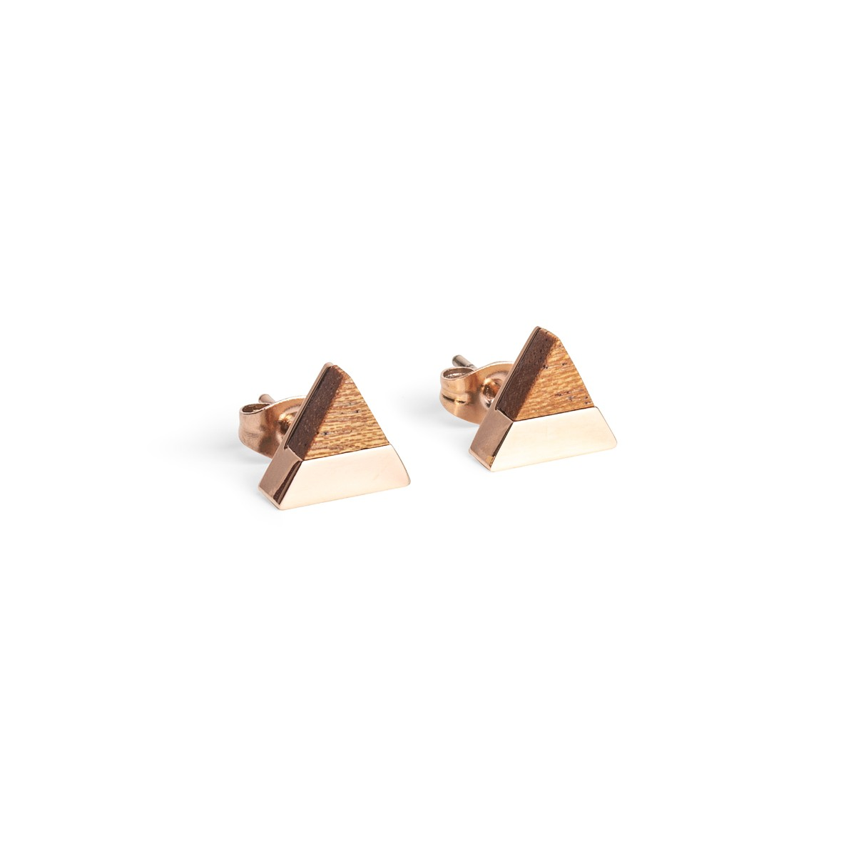 BeWooden Ohrringe - Ohrstecker mit Holzdetail - Rea Earrings Triangle
