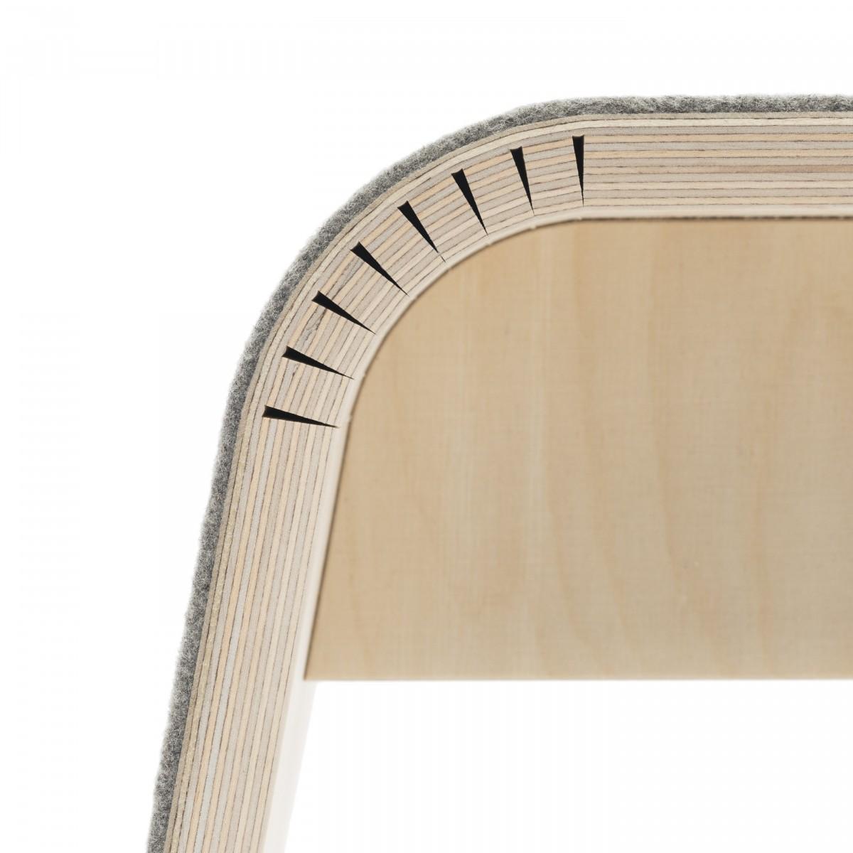 STADIG.stubenbank Design Sitzbank aus Holz mit Wollfilz