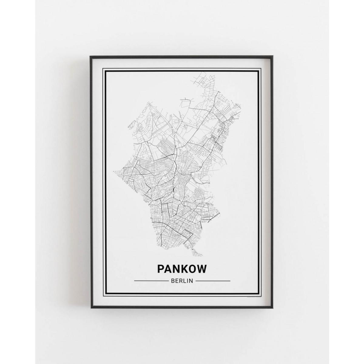 BERLIN Pankow Poster Stadtplan