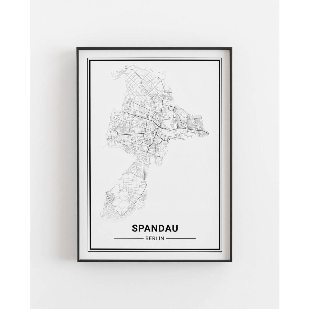 BERLIN Spandau Poster Stadtplan