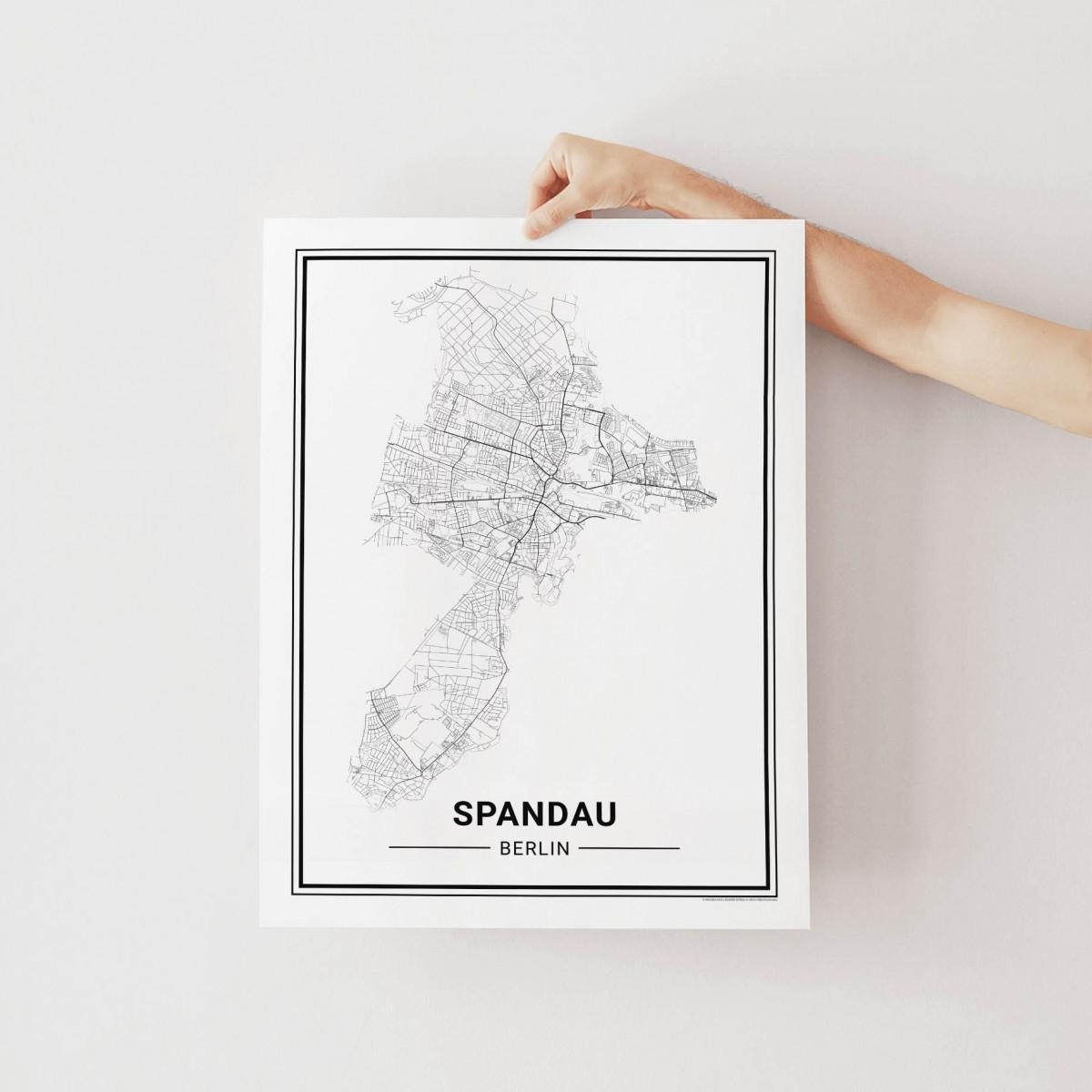 BERLIN Spandau Poster Stadtplan von Skanemarie