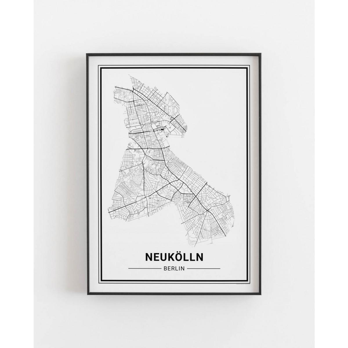 BERLIN Neukölln Poster Stadtplan