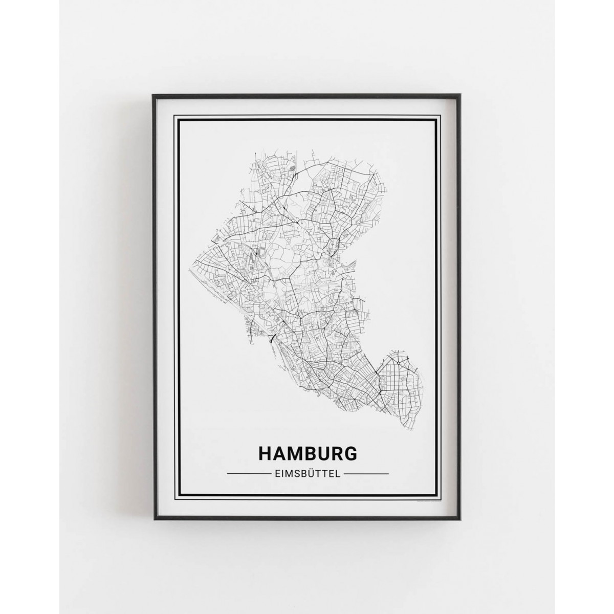 HAMBURG Eimsbüttel Poster Stadtplan